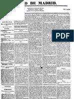Diario de Avisos de Madrid. 27-3-1844_noticia Estreno de Don Juan Tenorio
