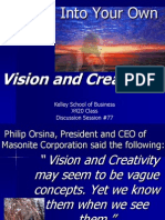 Vision and Creativity