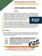 CONTENIDOS PROGRAMATICOS CURSO CUÑERO DE PERFORACION INAP 2012