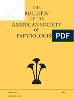 Bullettin American Society Papyrology 2006