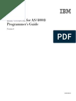 Cobol Subfiles for AS400 Developers | Ibm System I | Thread (Computing)