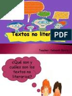 Ppt Textos No Literarios Tecero Basico