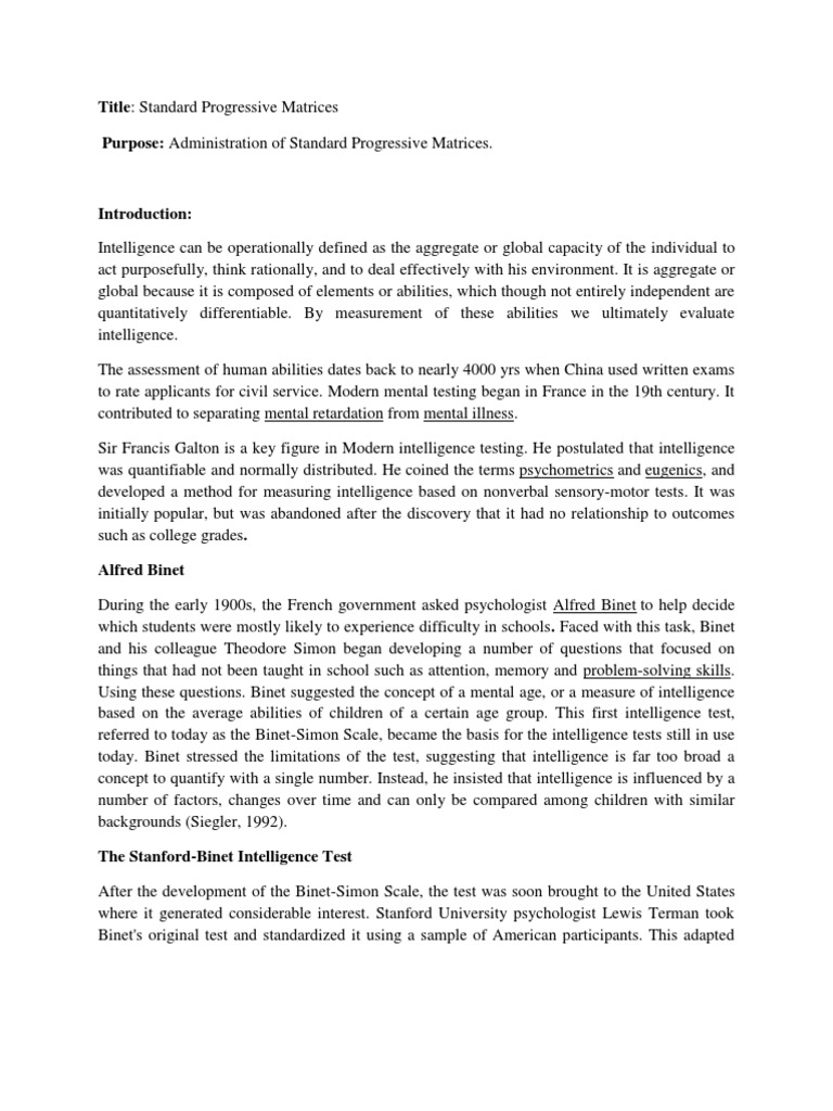 Lewis Terman Stanford Binet Test