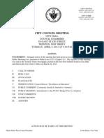 Trenton City Council Agenda and Docket April 2nd 2013