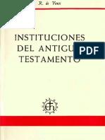 De Vaux, roland - Instituciones del Antiguo Testamento (1X1).pdf