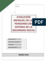 Informe Pensiones Seguridad Social España Marzo 2013