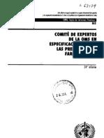 Calificacion de Equipos de La Industria Farmaceutica Norma OMS