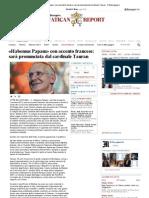 «Habemus Papam» con accento francese_ sarà pronunciata dal cardinales Tauran - Il Messaggero