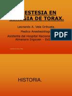 Anestesia Cirugia Torax