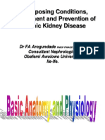 Predisposing Conditions, Management and Prevention of Chronic Kidney Disease..ppt