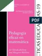 Pedagogía eficaz en matemáticas