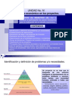 Clase Unidad IV, Estudio Economicos Para Proyectos