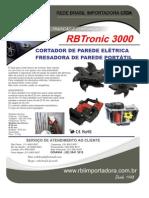 Rbtronic 3000 - Cortador e Fresadora de Paredes