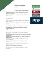 DECRETO REGLAMENTARIO LEY MEDIACIÓN PCIA DE BS. AS
