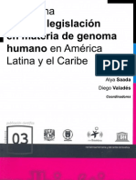 Panorama Sobre Legislacion en Materia de Genoma Humano
