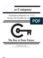 The Company Orientation Manual