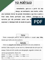 caracteristicas do texto poético. cartaz
