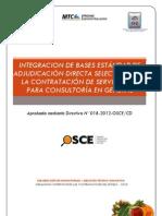 BASES ADJUDICACIÓN DIRECTA SELECTIVA PARA LA CONTRATACIÓN DE MANTENIMIENTO CARRETERA AUCARA-CHACRALLA-AMAYCCA 2013