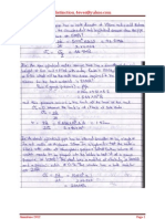 Solutions to Kadir Calculations