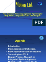 Flow Assurance Technology Options Pipe Sizing for Deep Water Long Distance Oil Gas Transport (1)