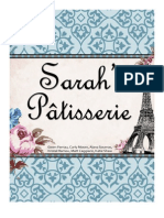 Sarah's Patisserie Public Relations Plan