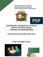 COMPRENSIÓN Y HERMENÉUTICA  DE TEXTOS ESCRITOS EN LENGUA INGLESA.docx