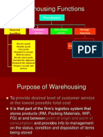 Warehouse Functions