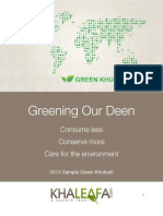 Think Green Khutbah April 19 2013