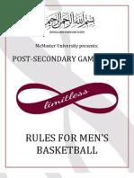 McMaster PSG Basketball Rules