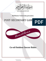 McMaster PSG Soccer Rules