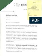 Carta Del Pacto de Unidad Al Ministerio de Cultura Sobre IEI Peruana
