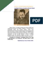 Albert Camus - La Vida Contemporanea