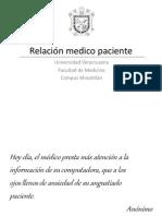 Relación medico paciente