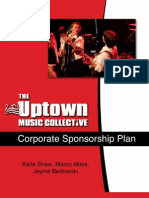 Uptown Music Collective Corporate Sponsorship Marketing Plan
