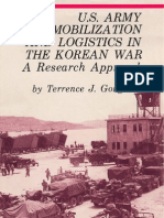 U.S. ARMY MOBILIZATION AND LOGISTICS IN THE KOREAN WAR A RESEARCH APPROACH (Front)