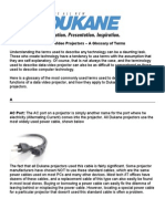 Dukane Projector Glossary 2013