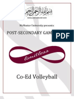 McMaster PSG Co-Ed Volleyball Rules