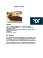 Pie de Chocolate Sedoso