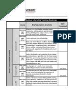 Course Internship Tracking Roadmap