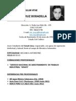 Curriculum Vitae- Eric Joelcruz Bobadilla
