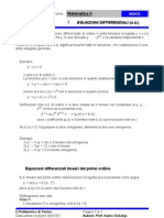 Matematica II - Equazioni Differenziali