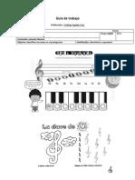 Guía de trabajo notas musicales y llave de sol N°2