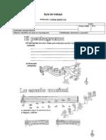 Guía de trabajo el pentagrama y la escala musical N°4