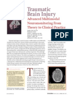 Crit Care Nurse-2011 - Traumatic Brain Injury - Advanced Multimodal Neuromonitoring From Theory to Clinical Practice