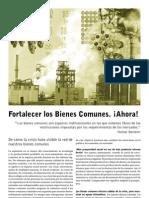 Manifesto -Fortalecer Los Bienes Comunes