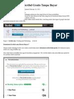 Cara Download Scribd Gratis Tanpa Bayar