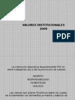 PRESENTACION VALORES INSTUCIONALES