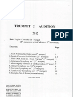 Trumpet Audition Orchestral Excerpts From 13 Orchestras