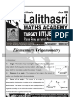 Elementary Trigonometry Final Setup