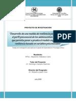 Desc. Inventario de Cualidades Resilientes Para Adolescentes (ICREA)